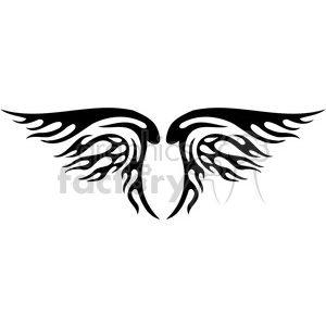 vinyl ready vector wing tattoo design 093 clipart. Commercial use image # 392759