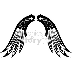 vinyl ready vector wing tattoo design 057 clipart. Royalty-free image # 392779