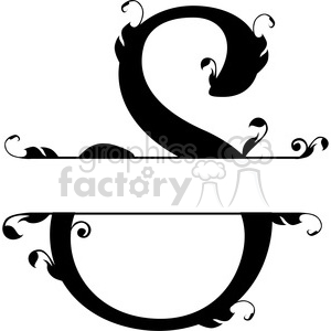 split regal s monogram vector design clipart. Royalty-free image # 392845