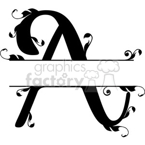 split regal a monogram vector design clipart. Royalty-free image # 392855