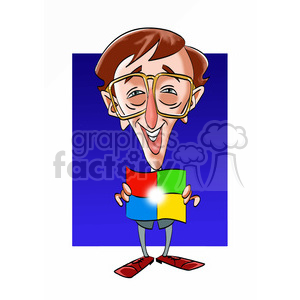bill gates color clipart. Royalty-free image # 392899