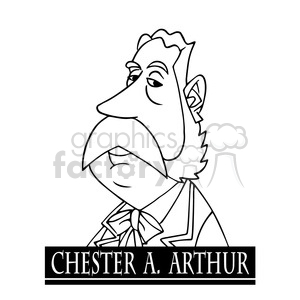 celebrity famous cartoon editorial-only people funny caricature chester+a+arthur president 21st