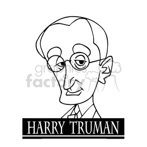 harry truman black white clipart. Royalty-free image # 392929