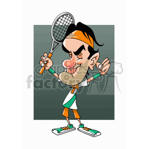 celebrity famous cartoon editorial-only people funny caricature roger+federer
