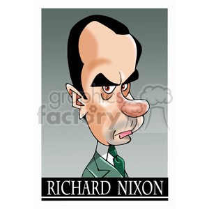 richard nixon color clipart. Commercial use image # 393037