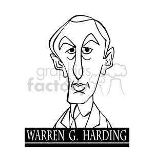 warren g harding black white clipart. Royalty-free image # 393047