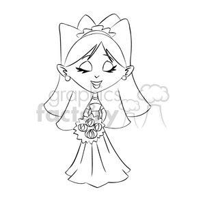 novia black and white clipart. Royalty-free image # 393276