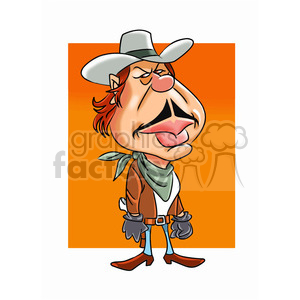 charles bronson cartoon character clipart. Royalty-free image # 393306