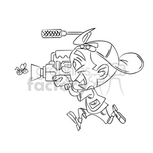 cameraman black white clipart. Commercial use image # 393510