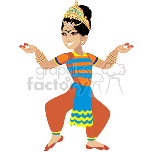 indian female dancing clipart. Commercial use image # 393631