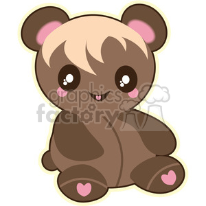 Teddy Bear vector clip art image clipart. Royalty-free image # 393765