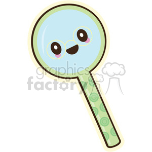 Magnifying glass vector clip art image clipart. Commercial use image # 393795