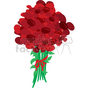 valentines flowers vector clipart. Royalty-free image # 393815