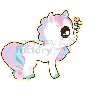 cartoon Unicorn 0 illustration clip art image clipart. Royalty-free image # 393845