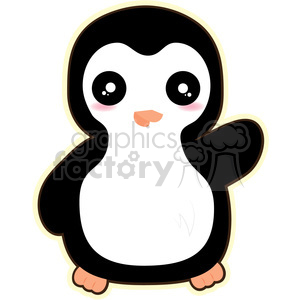 cartoon Penguin illustration clip art image clipart. Commercial use image # 393855
