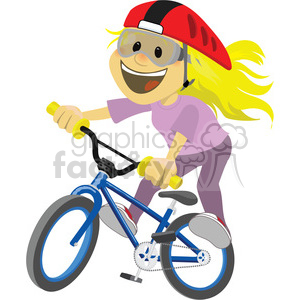 girl riding a bike clip art image clipart. Commercial use image # 393875