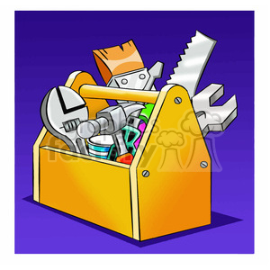 image of tool box herramientas de carpinteria clipart. Commercial use image # 393921