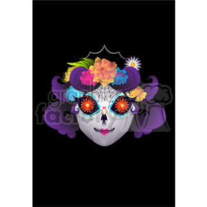 Day of the Dead 9 cartoon character illustration clipart. Commercial use image # 394131