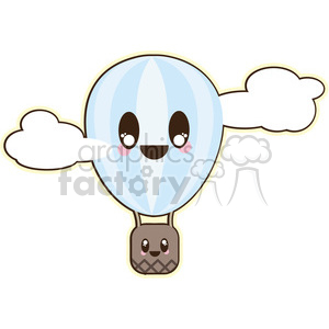Hot Air Balloon cartoon character illustration clipart. Royalty-free image # 394141