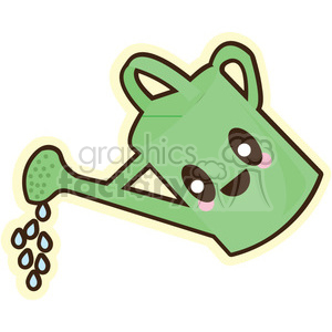 Watering Can cartoon character illustration clipart. Commercial use image # 394151