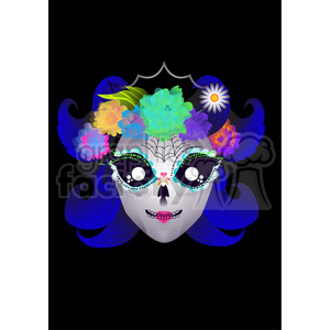 Day of the Dead 7 cartoon character illustration clipart. Commercial use image # 394171