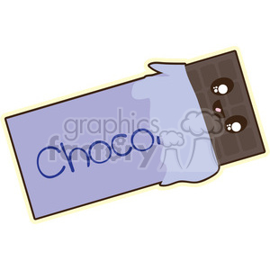 Chocolate cartoon character illustration clipart. Royalty-free image # 394181