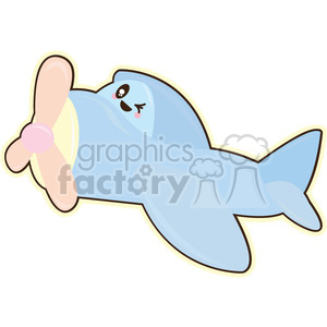 Plane cartoon character illustration clipart. Royalty-free image # 394191