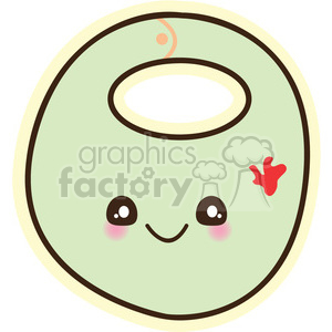 baby bib cartoon character illustration clipart. Commercial use image # 394201