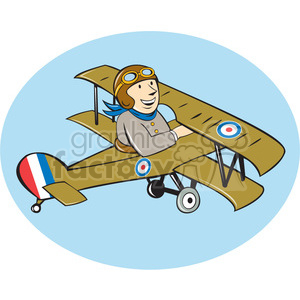 world war one british pilot biplane clipart. Royalty-free image # 394342