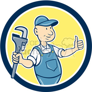 plumber thumps up CIRC clipart. Commercial use image # 394362