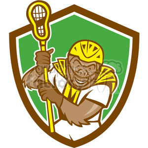 monkey gorilla face head animal mascot logo lacrosse