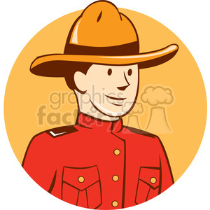 mounted police officer BUST CIRC clipart. Royalty-free image # 394572