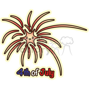 Fourth Of July fireworks clipart. Commercial use image # 394642