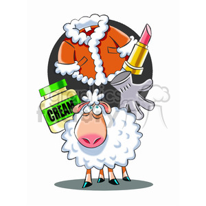 sheep thinking about the meaning of life clipart. Commercial use image # 394752
