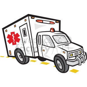 ambulance emergency vehicle clipart. Commercial use image # 392395