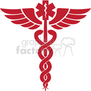 caduceus winged staff clipart. Commercial use image # 165982