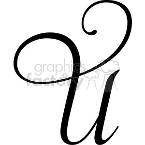 monogrammed u clipart. Royalty-free image # 394818