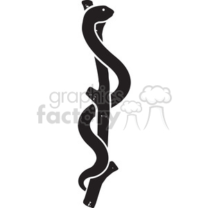 rod of asclepius clipart. Commercial use image # 394838