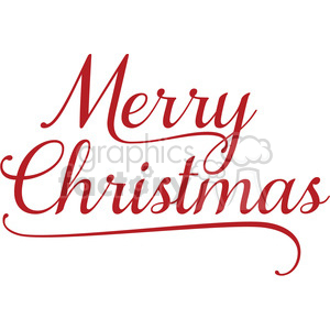 merry christmas word art clipart. Commercial use image # 394854