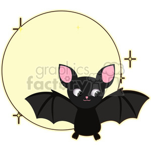 cartoon cute character bat moon bats rodent animal