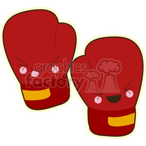 Boxing gloves cartoon character vector image clipart. Commercial use image # 394915