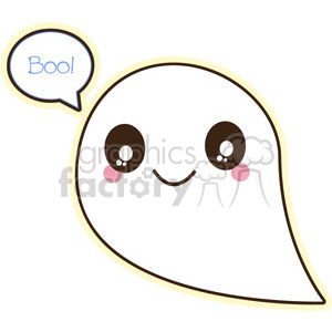 Halloween ghost cartoon character vector image clipart. Royalty-free image # 394925
