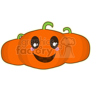 Halloween Pumpkin cartoon character vector image clipart. Royalty-free image # 394935