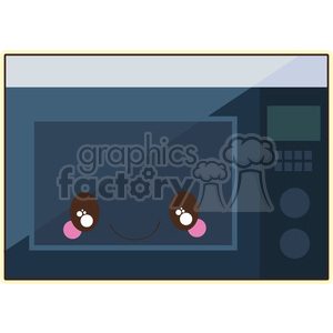 Microwave cartoon character vector image clipart. Royalty-free image # 394955