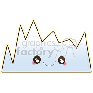 Mountain cartoon character vector clip art image clipart. Commercial use image # 395011