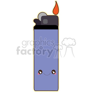 Lighter cartoon character vector clip art image clipart. Commercial use image # 395051