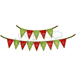 Christmas banner cartoon character vector clip art image clipart. Commercial use image # 395247