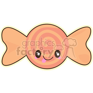 Wrapped Sweet cartoon character vector clip art image clipart. Royalty-free image # 395267