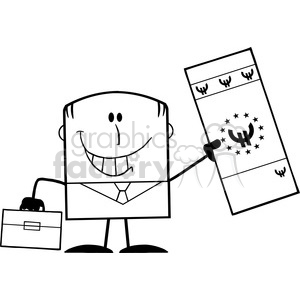 cartoon funny comical silly business man money