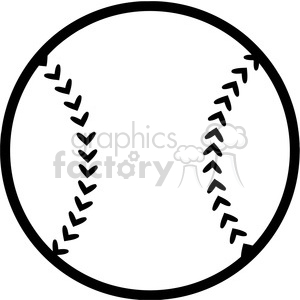 Black and White Baseball Ball clipart. Commercial use image # 396070